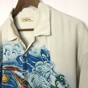 Tommy Bahama Mens 100% Silk Shirt Size XL